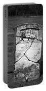 Headstone Of Lafayette Meeks Portable Battery Charger by Teresa Mucha
