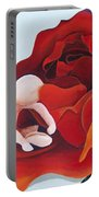 Healing Painting Baby Sitting In A Rose Portable Battery Charger