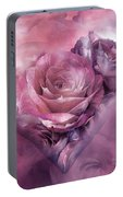 Heart Of A Rose - Mauve Purple Portable Battery Charger