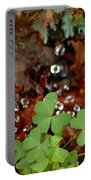 Heart Shaped Clover And  Dew Drops Portable Battery Charger