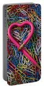 Heart Shaped Pink Pencil Portable Battery Charger