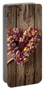 Heart Wreath With Weather Vane Arrow Portable Battery Charger