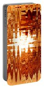 Heat Wave - Abstract Art Portable Battery Charger