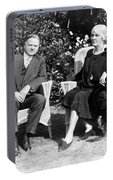 Herbert Hoover Seated With His Wife Portable Battery Charger