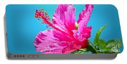 Hibiscus Crystal Luster Portable Battery Charger