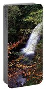 High Angle View Of A Waterfall, Glenoe Portable Battery Charger