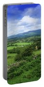 High Angle View Of Fields On A Portable Battery Charger