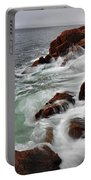 High Tide At Bass Harbor Head Portable Battery Charger