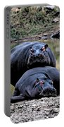 Hippos In Love Portable Battery Charger