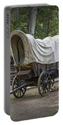 Historical Frontier Covered Wagon Portable Battery Charger