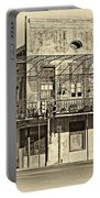 History Lesson Sepia Portable Battery Charger