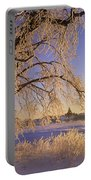 Hoar Frost On Tree, Milton, Prince Portable Battery Charger