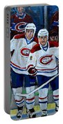 Hockey Art At Bell Center Montreal Portable Battery Charger