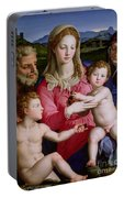 Holy Family With St Anne And The Infant St John The Baptist Portable Battery Charger