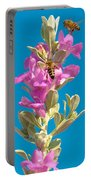 Honey Bees On Sage 1 Portable Battery Charger