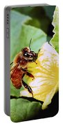 Honeybee And Cantalope Portable Battery Charger