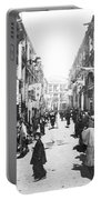 Hong Kong Vintage Street Scene - C 1902 Portable Battery Charger