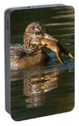 Hooded Merganser And Bullfrog Portable Battery Charger