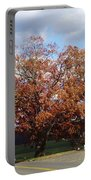 Horse Barn Hill In Autumn Portable Battery Charger