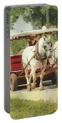 Horse Carriage Mackinac Island Michigan Portable Battery Charger