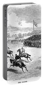 Horse Racing, 1870 Portable Battery Charger