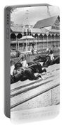 Horse Racing, 1889 Portable Battery Charger
