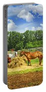 Horses At The Ranch Portable Battery Charger