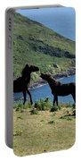 Horses By The Sea Portable Battery Charger