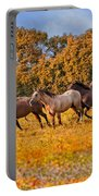 Horses Running Free Portable Battery Charger