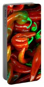 Hot Peppers Portable Battery Charger by Robert Bales