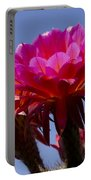 Hot Pink Cactus Flowers Portable Battery Charger