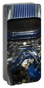 Hotrod Engine In Blue Portable Battery Charger
