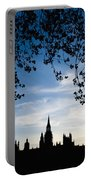 Houses Of Parliament Silhouette Portable Battery Charger