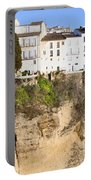 Houses On A Cliff In Ronda Town Portable Battery Charger