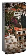 Houses On The Hill Nerja Portable Battery Charger by Mary Machare