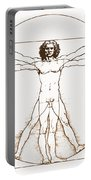Human Body By Da Vinci Portable Battery Charger