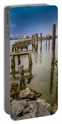Humboldt Bay Over Darkening Skies Portable Battery Charger