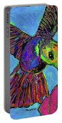 Hummingbird On Blue Portable Battery Charger