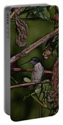 Hummingbird Waiting For Dinner Portable Battery Charger