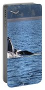 Hump Back Whale In Alaska Portable Battery Charger
