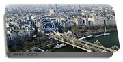 Hungerford Bridge Seen From London Eye Portable Battery Charger