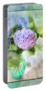 Hydrangea Art Greeting Card Portable Battery Charger