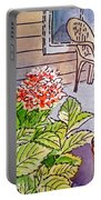 Hydrangea Sketchbook Project Down My Street Portable Battery Charger by Irina Sztukowski