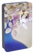 Hydrangeas In Deep Blue Vase Portable Battery Charger