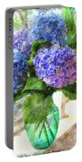 Hydrangeas In The Sun Portable Battery Charger