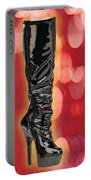 I Love The Night Life Patent Boots Portable Battery Charger