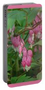 I Love You Greeting Card - Floral Bleeding Heart Portable Battery Charger
