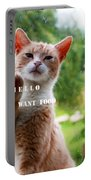 I Want Food Cat Portable Battery Charger