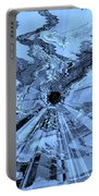 Ice Blue - Abstract Art Portable Battery Charger