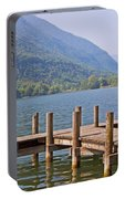 idyllic tarn in Italy Portable Battery Charger